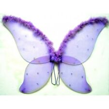 Adult Silver Purple Dot Sparkling Fairy Butterfly Wings Dress Up Costume Wing