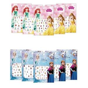 Disney Cartoon Frozen Princess Elsa Anna Snow White Makeup Nail Stickers Minnie