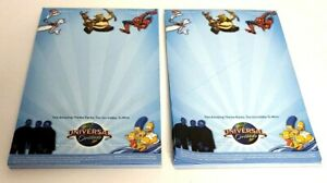 Lot of 2 Promotional Universal Orlando Dreamworks Noter Pads 2008 NOS NEW