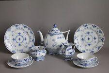 Royal Copenhagen Musselmalet Vollspitze Tee Service f. 2 Pers Kanne Tasse 1.Wahl