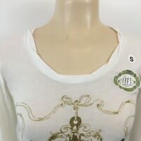 IFSE Nashville Tennessee Long Sleeve T-Shirt Semi Sheer White Womens Tops Size S