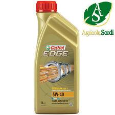 CASTROL EDGE 5W-40 OLIO MOTORE AUTO 1LT LUBRIFICANTI 100% SINTETICO