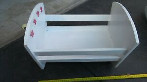 Wooden Doll Rocking Bed - Wooden Doll's Rocking Cradle Bed Doll Toy