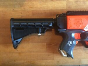 3d Printed PLA Black Shoulder Stock Compatible With Nerf Stryfe (Not the Gun)