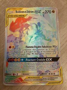 [POKEMON] RESHIRAM ET ZEKROM GX ESCOUADE 270PV FULL ART 259/236! SL12! RAINBOW!