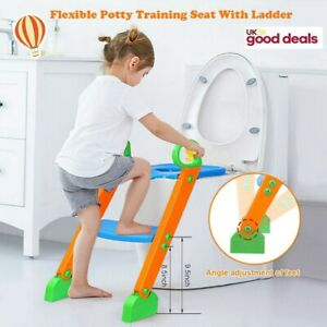 Baby Safety Toddler Kid Potty Training Toilet Seat Trainer Urinal Chair Ladder