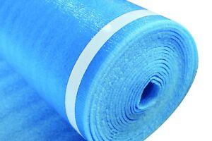 Blue Cal-Flor FU81422 SilverStep Premium Cross-Linked Polyethylene Foam Underlayment and Moisture Barrier for Floating Laminate and Engineered Floors 100 sf