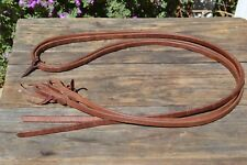 """1/2""""Jose Ortiz Conditioned Harness Leather Split Reins - 8 ft."""