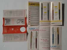 ----- LAMY --- 50's AND 70's ---- PRICE LIST  ORDER FORMS  DEPLIANT