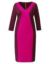 Viscose V-Neck 3/4 Sleeve Dresses Work