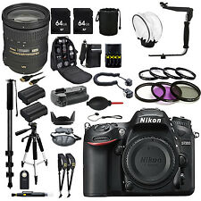 Nikon D7200 with 18-200mm VR II Lens +36 PCS OF PRO GEAR 128GB KIT
