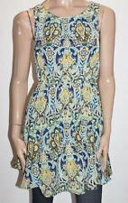 BOOHOO Brand Leanne Navy Paisley Skater Dress Size S BNWT #SO38