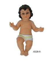 "Baby Jesus 9"" Niño Dios Nativity Statue  movable arms-Glass eyes-6528-9"