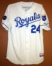 KANSAS CITY ROYALS White  24 WILSON BETEMIT MLB GAME WORN Baseball JERSEY d84a4f10b