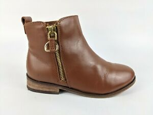 Next Girls Brown Leather Boots Uk 12