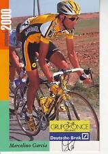 CYCLISME carte cycliste MARCELINO GARCIA  équipe ONCE 2000