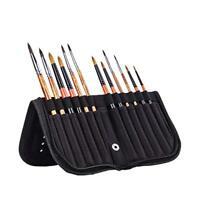 Artist Paint Brushes Case Zippered Brush Holder for Oil Acrylic Watercolor Brush
