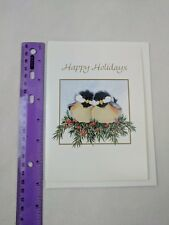 World Wildlife Fund WWF Chickadee Birds Christmas Holiday Card