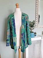 Vintage 1980's Toddy of Sweden Jacket/ Blazer in size 12 Green and Blue