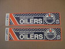 Lot Of (2) Vintage Edmonton Oilers 1990's Wincraft Bumper Stickers