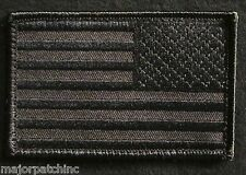 USA AMERICAN FLAG TACTICAL MORALE MILITARY COVERT BLACK OPS REVERSE HOOK PATCH