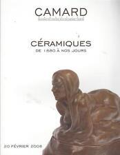 CATALOGUE CAMARD MODERN CERAMIC CERAMIQUE MODERNE 1880-1950 19TH 20TH CENTURY 3
