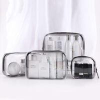 Bolsas de cosméticos transparentes impermeables estuche de maquillaje bolsa a*ws