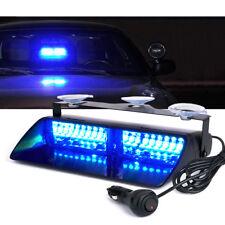 Xprite 16 LED Windshield Strobe Lights Blue Emergency Warning for Cars Trucks