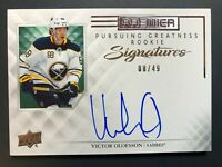 2019-20 Upper Deck Premier Victor Olofsson Pursing Greatness Rookie Auto /49