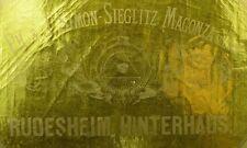 1880's Rudesheim Hinterhaus PH. & J. Simon-Sieglitz German Wine Bottle Label F98