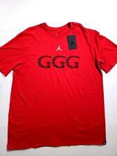 813b3791 Nike Jordan GGG Gennady Golovkin T-Shirt Red AQ8818 687 Mens Size XL