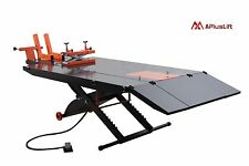Upgraded APlusLift 1500 LB Air Op Motorcycle Lift Table with Side Ext. (MT1500X)