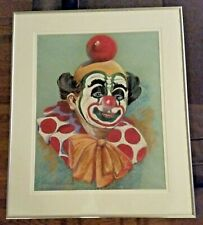 Howard Weston Arnold (1904-1976) signed 1969 clown pastel painting MINT RARE!