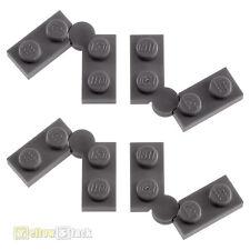 4x LEGO® 2429c01 1x4 Scharnierplatte neu-dunkelgrau NEU dark bluish gray