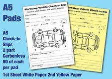 Vehicle check in slips pad - 2 Part sets, Check damage on vehicle on arrival