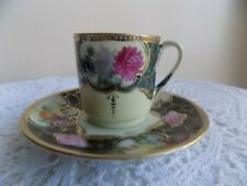 Antique Nippon Hand Painted miniature teacup and saucer