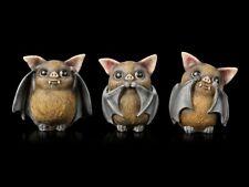 Fledermaus Figuren - Nichts Böses hören sehen sprechen | Deko Fantasy Tiere