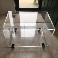 MCM Clear Very Heavy Lucite TV Stand/Cart Local Pick Up Only Easton Pa 18040