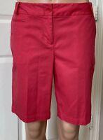 Size 6P TALBOTS Girlfriend Chino Pink Bermuda Shorts Excellent Condition