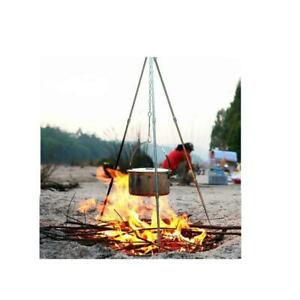 Outdoor Picnic BBQ Cooking Tripod Camping Tripod Pot Hanger & Hook and Chain