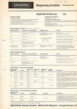 Grundig riparazione aiutante Elite-Boy 206 service manual istruzioni b1277