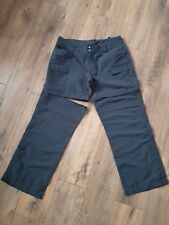 "Ladies The North Face Zip off Leg Charcoal Grey Pant Trousers 12 UK 28""L Hike"