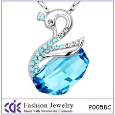 CDE Crystal from Swarovski Necklace  Swan Jewelry