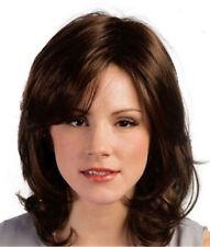 CHWG10532 bangs charm style women Wig short  dark brown health curly hair wigs