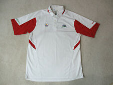Reebok Pittsburgh Steelers Polo Shirt Adult Large White Red Super Bowl Football