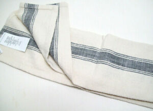 Pottery Barn Blueish Gray French Striped Organic Dinner Table Napkins Set of 4
