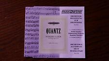 Flauto QUANTZ. concerto in G Major Q. 5:174 Orchestral accompagnamento CD.