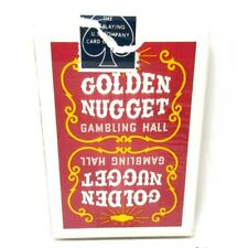 Vintage 1970s Golden Nugget Las Vegas Casino Deck of Cards Red Pack Amazing Cond