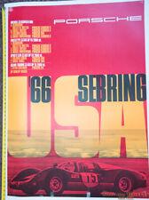 "66 Porsche SEBRING Genuine Dealer Factory Poster Orig 46.5""x 33 Linenbacked"