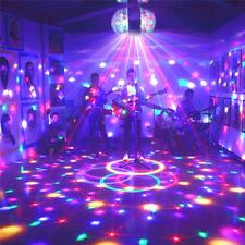 3W E27 Dual RGB Crystal Ball Rotating LED Stage Light Bulb Disco Party DJ Lamp